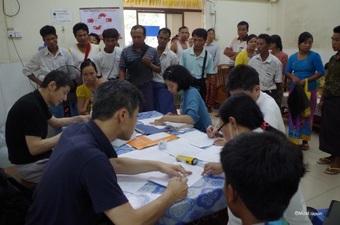 スマイル作戦ミャンマー、ネピドーで活動開始