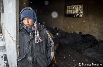 難民たちを襲う極寒、凍傷や低体温症患者が続出