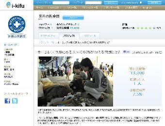 寄付プラットフォーム「i-kifu」の支援先になりました